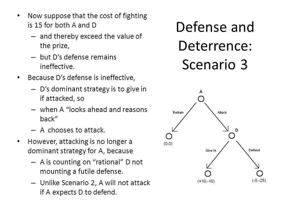 Defense and Deterrence: Scenario 3