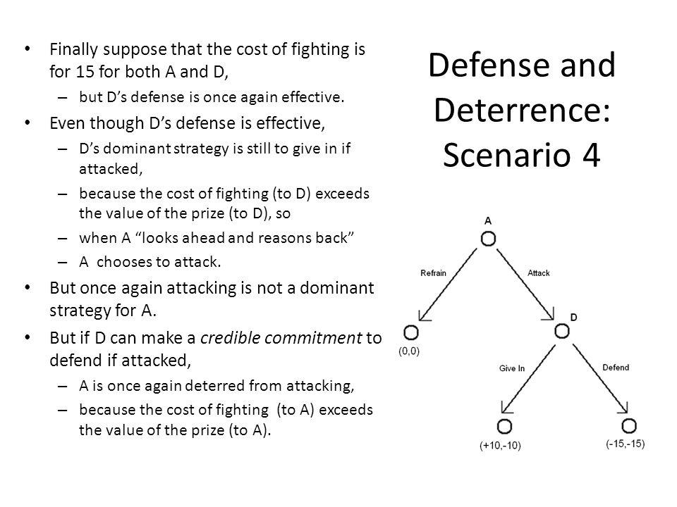 Defense and Deterrence: Scenario 4