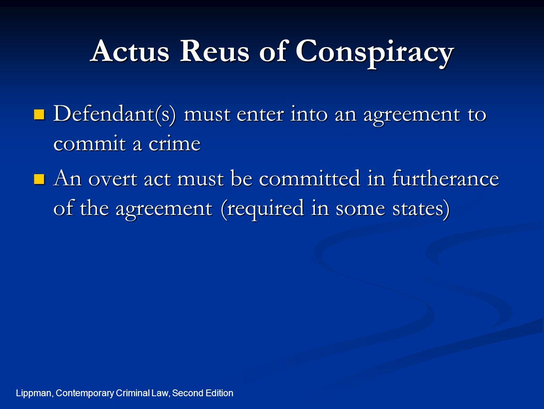 Actus Reus of Conspiracy