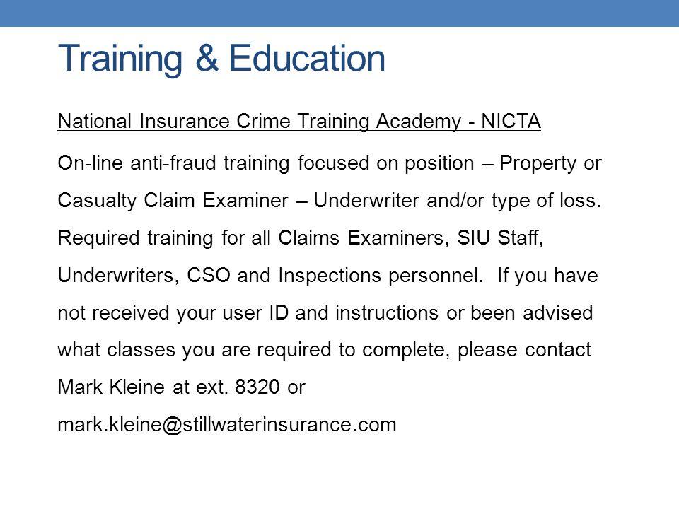 Training & Education