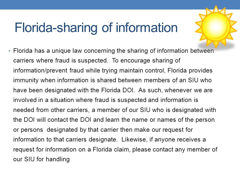 Florida-sharing of information