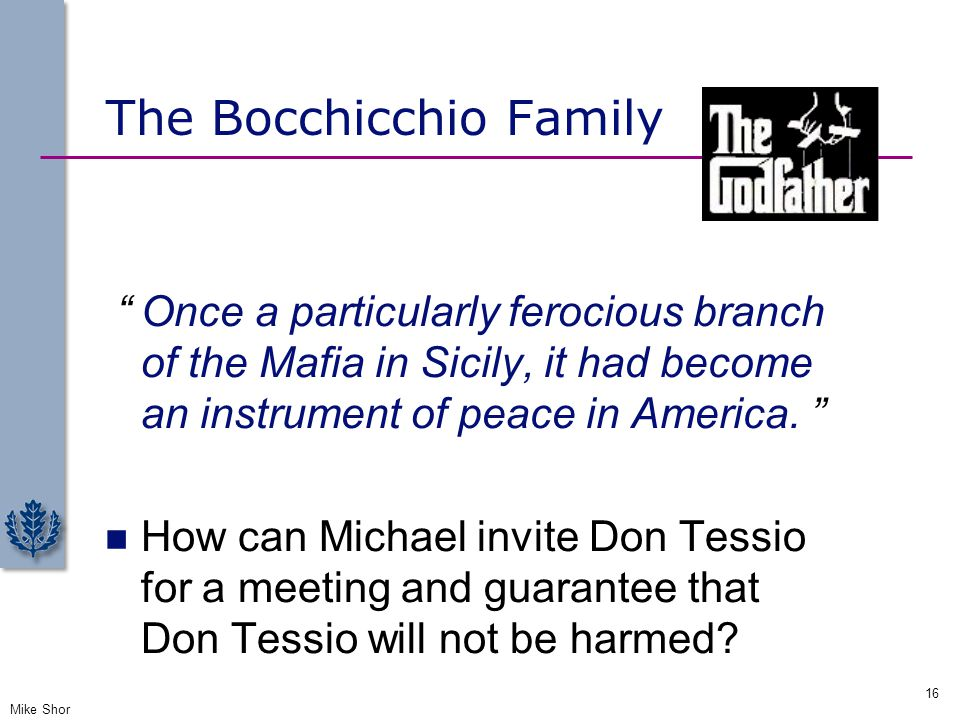 The Bocchicchio Family