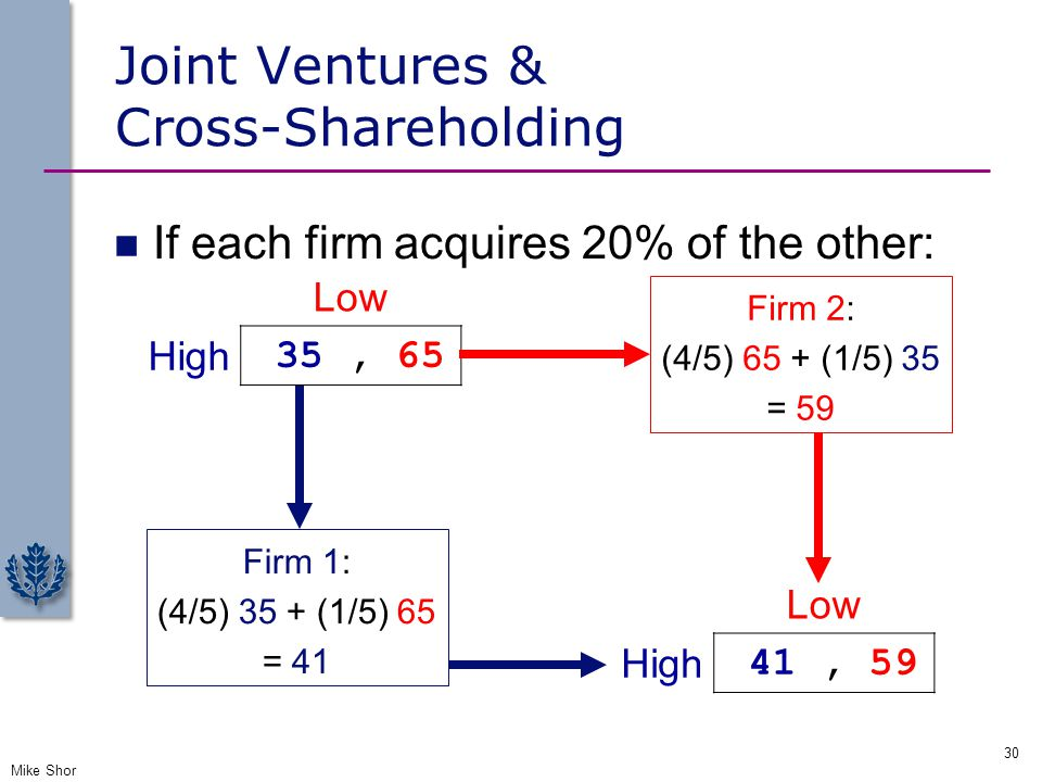 Joint Ventures & Cross-Shareholding