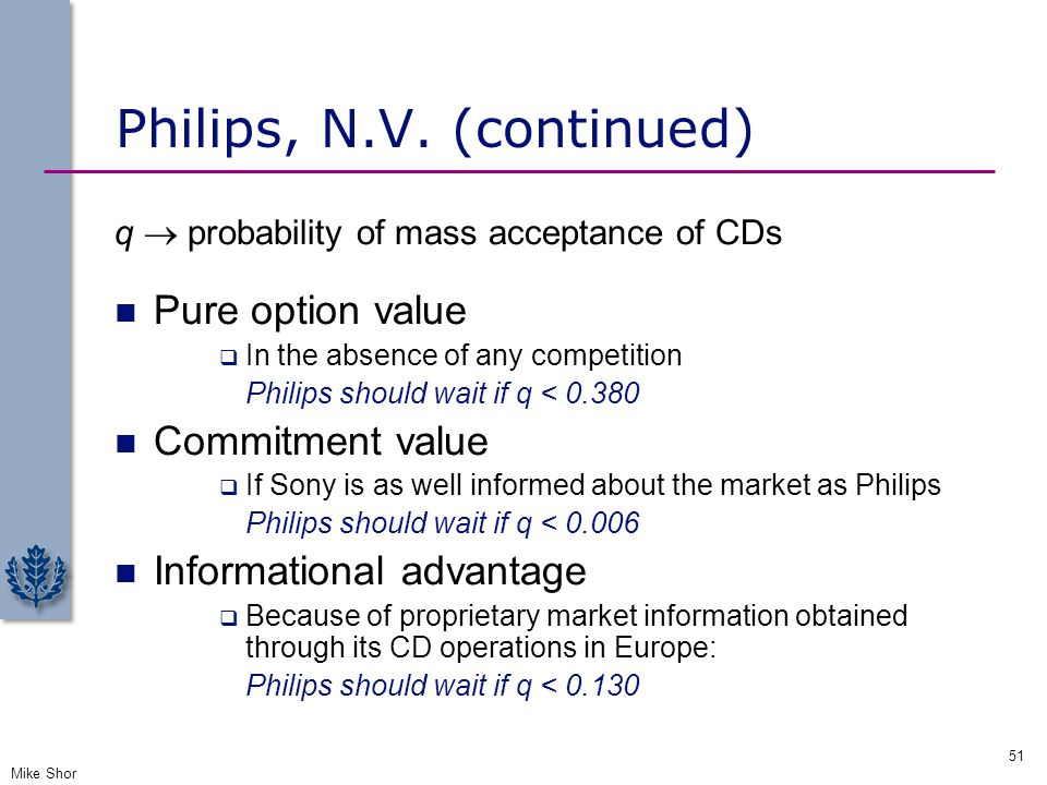Philips, N.V. (continued)
