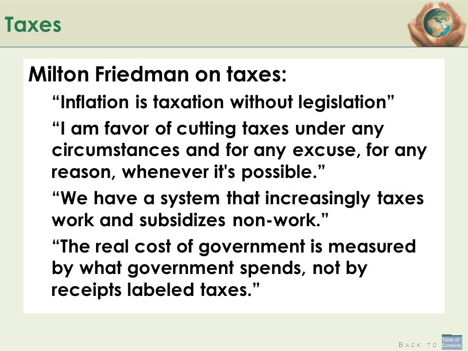 Milton Friedman on taxes: