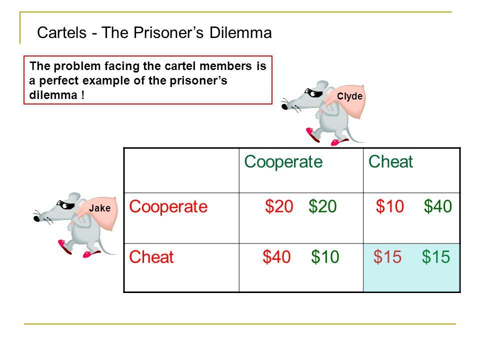 Cooperate Cheat $20 $20 $10 $40 $40 $10 $15 $15