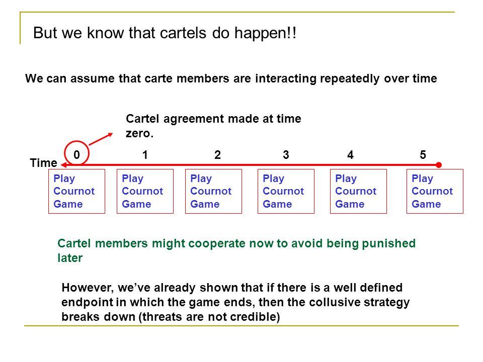 But we know that cartels do happen!!