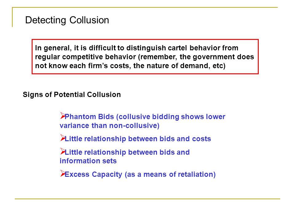 Detecting Collusion