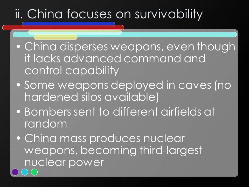 ii. China focuses on survivability