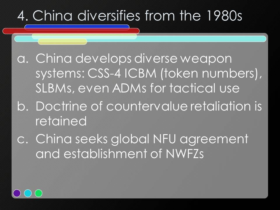 4. China diversifies from the 1980s