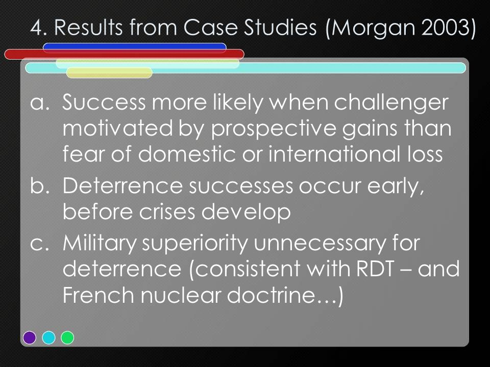 4. Results from Case Studies (Morgan 2003)