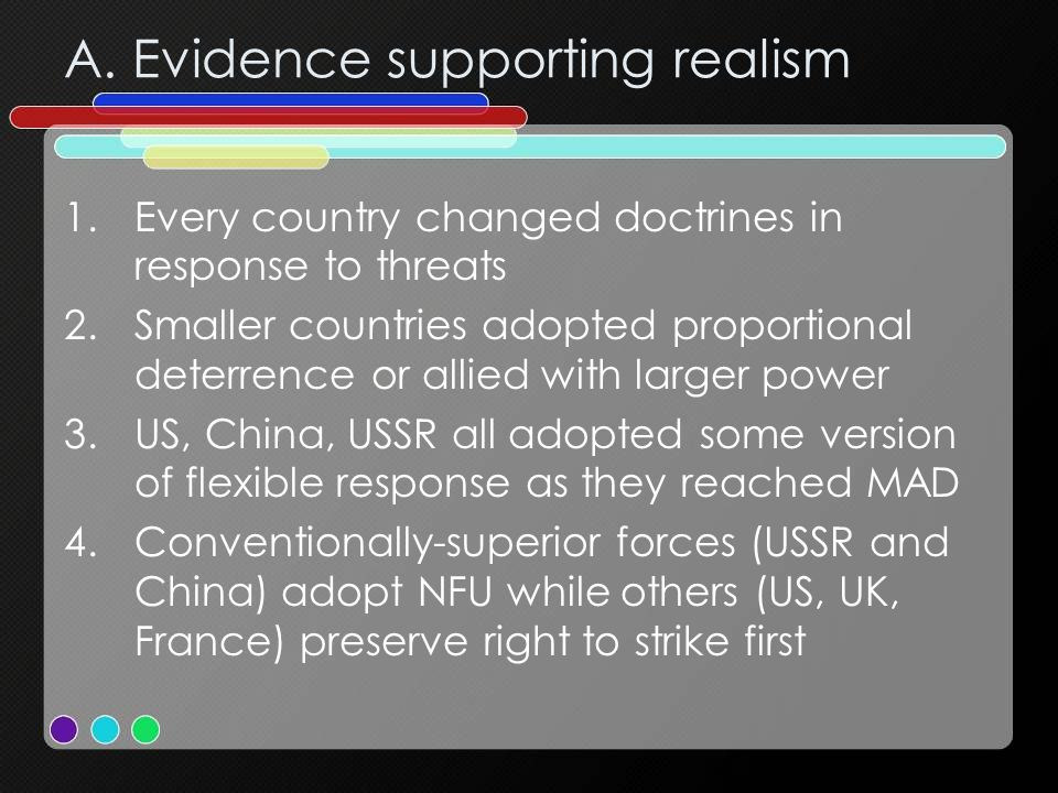 A. Evidence supporting realism