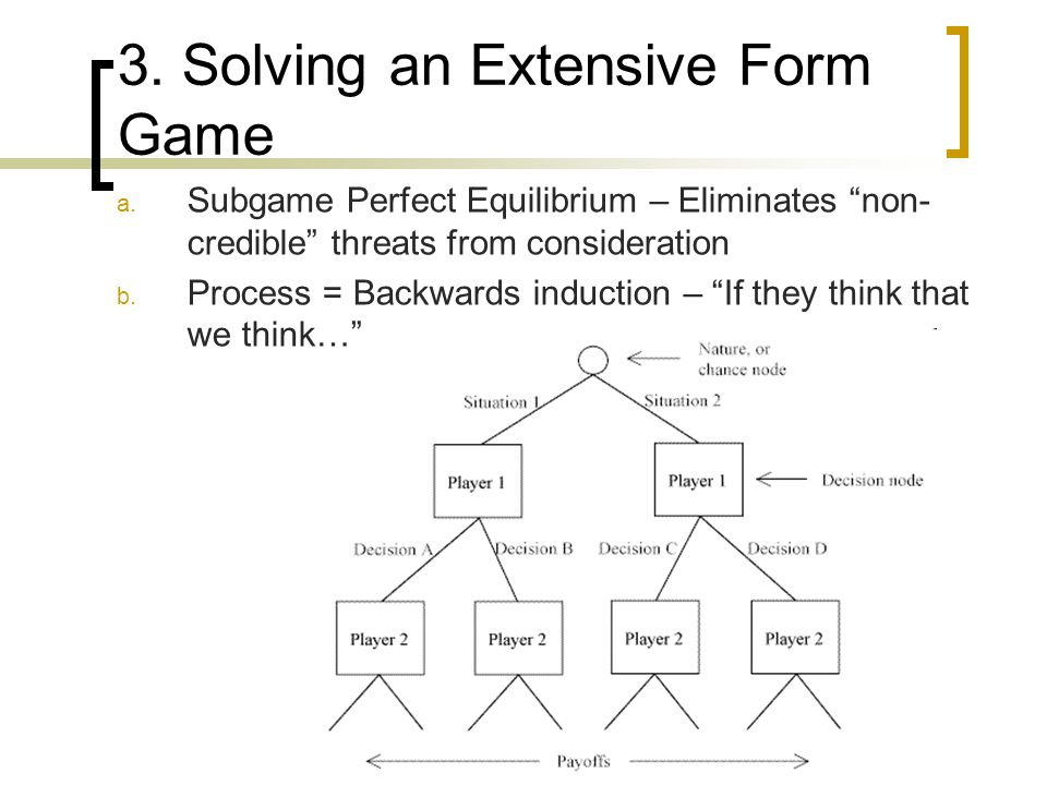 3. Solving an Extensive Form Game