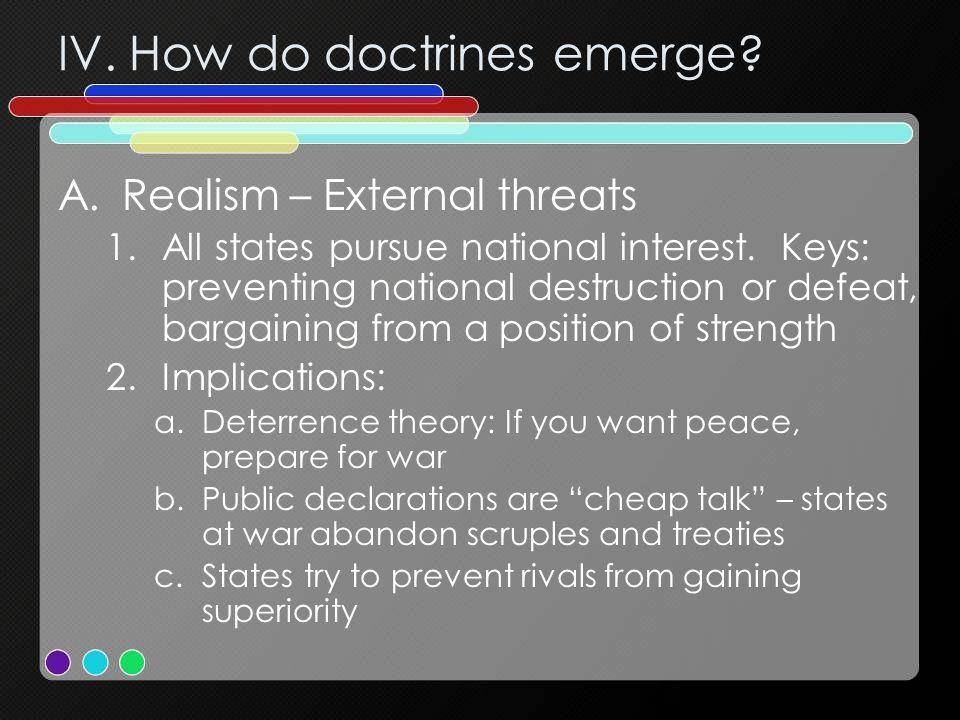IV. How do doctrines emerge