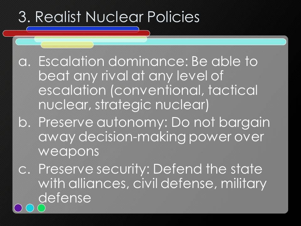 3. Realist Nuclear Policies