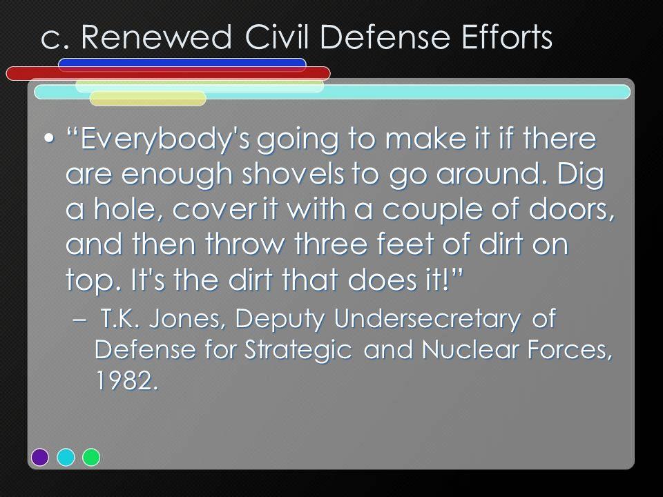 c. Renewed Civil Defense Efforts