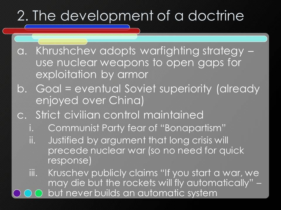 2. The development of a doctrine