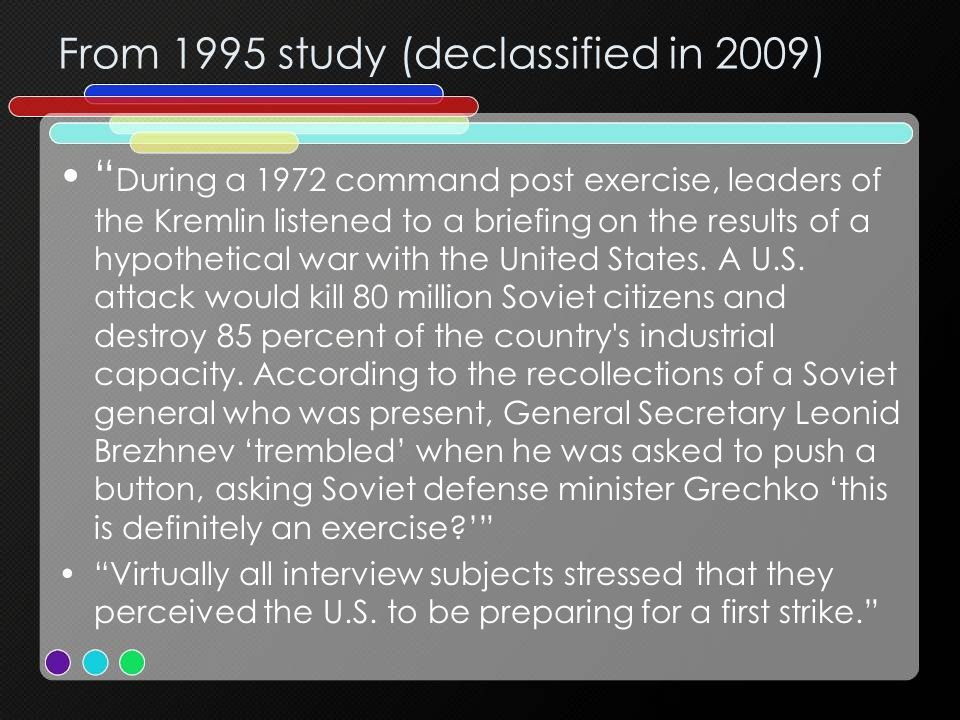From 1995 study (declassified in 2009)