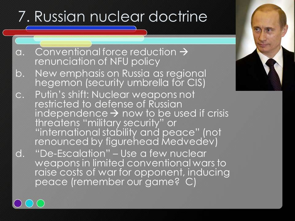 7. Russian nuclear doctrine