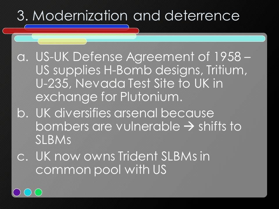 3. Modernization and deterrence