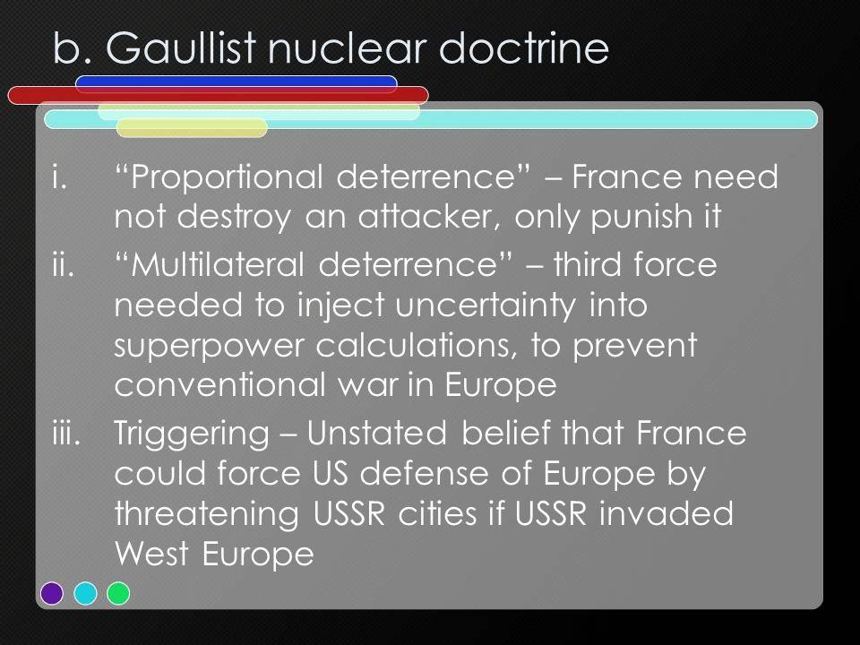 b. Gaullist nuclear doctrine