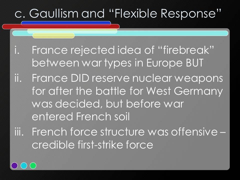 c. Gaullism and Flexible Response