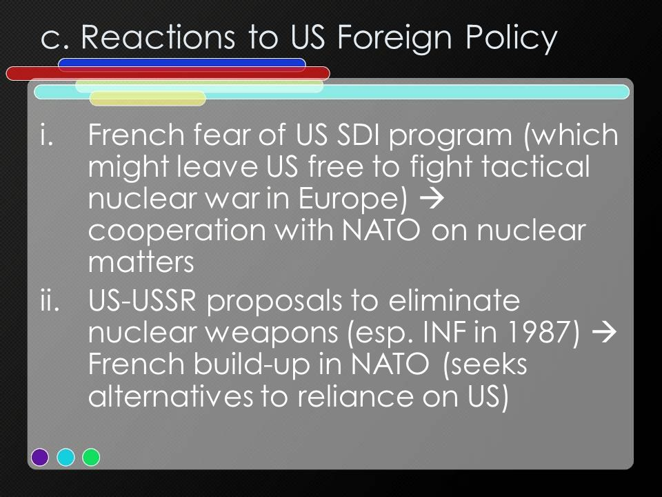 c. Reactions to US Foreign Policy