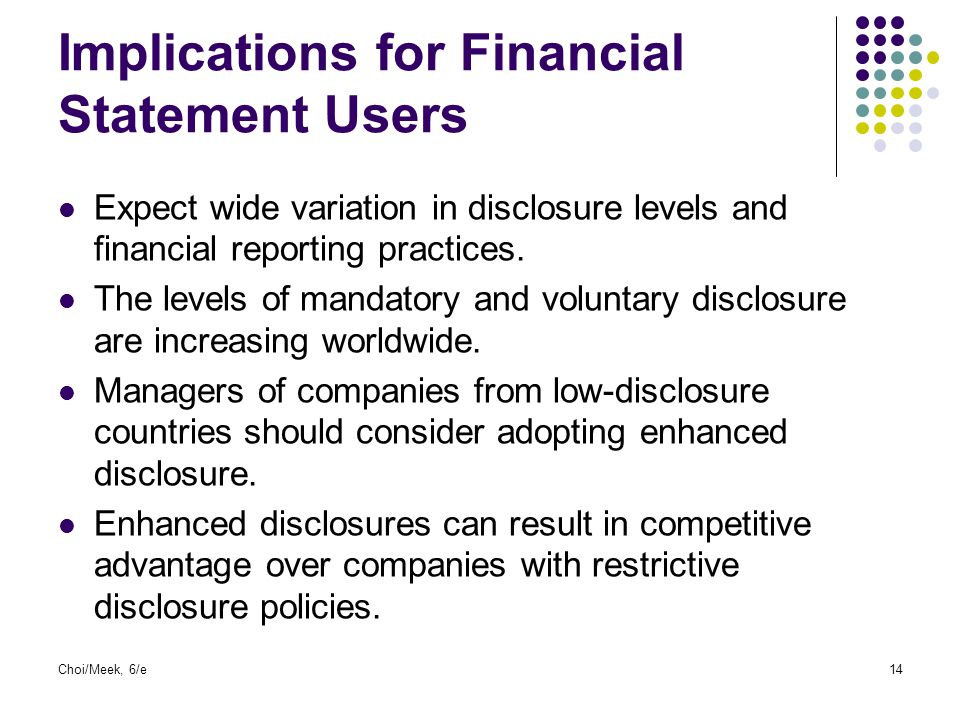 Implications for Financial Statement Users