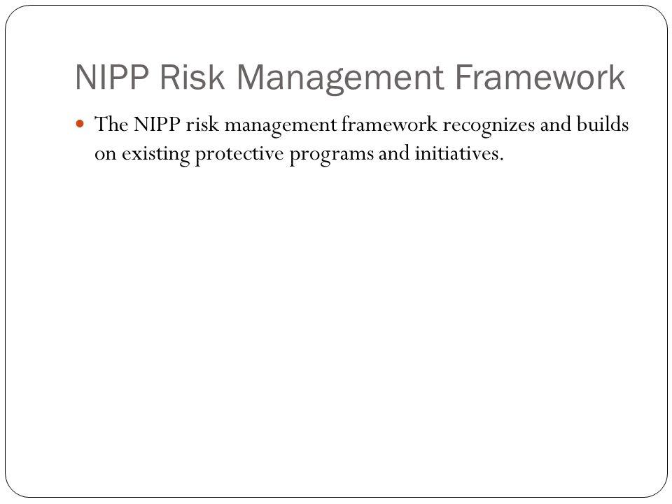 NIPP Risk Management Framework