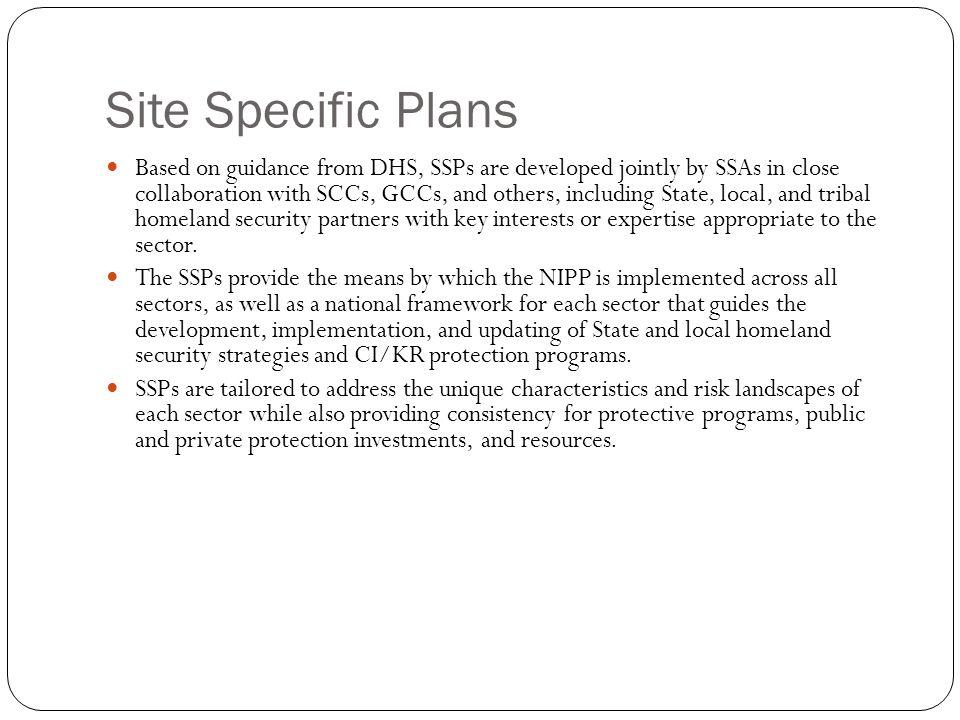 Site Specific Plans