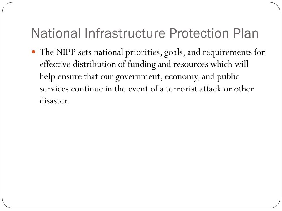 National Infrastructure Protection Plan