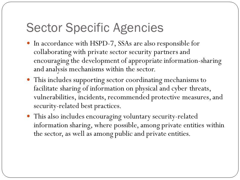 Sector Specific Agencies