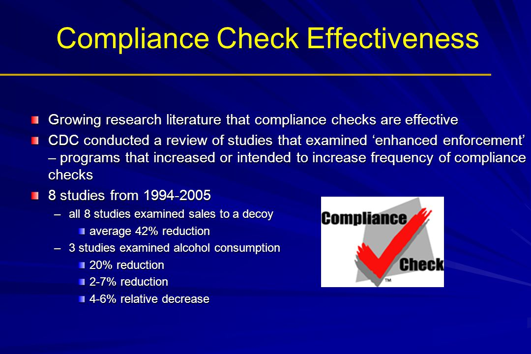 Compliance Check Effectiveness
