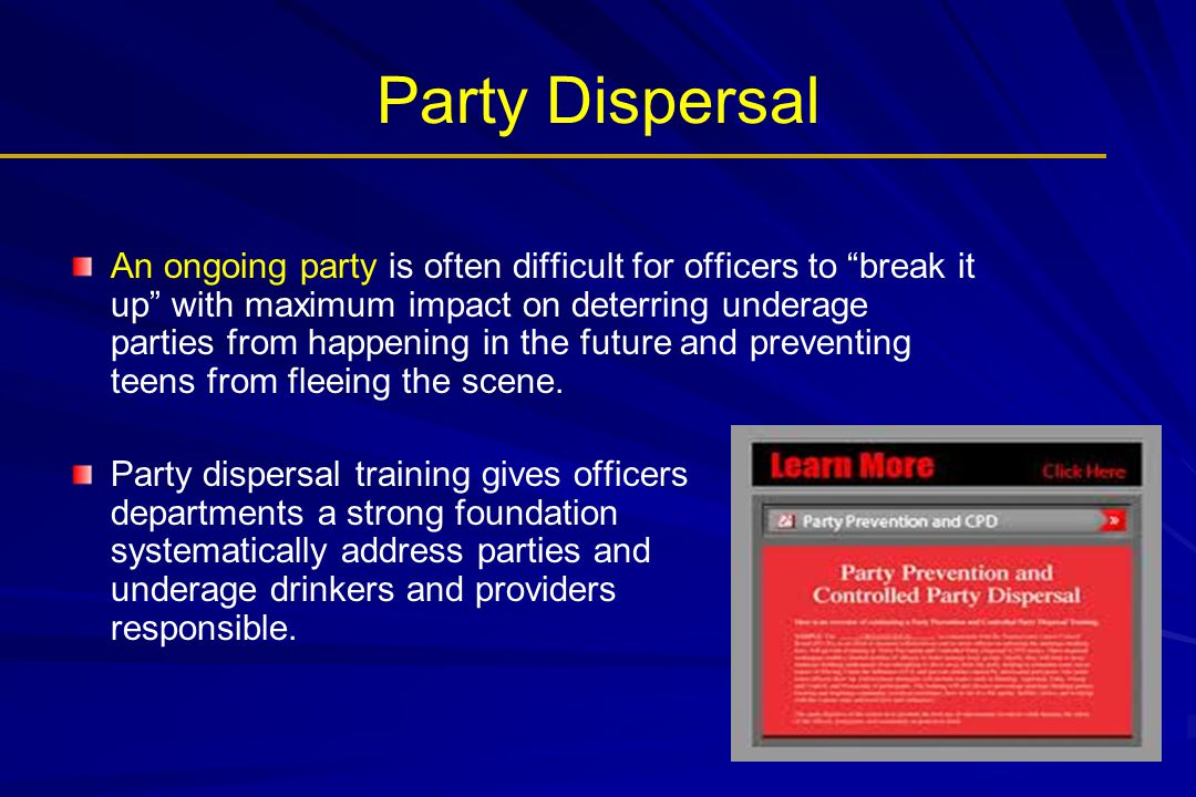 Party Dispersal