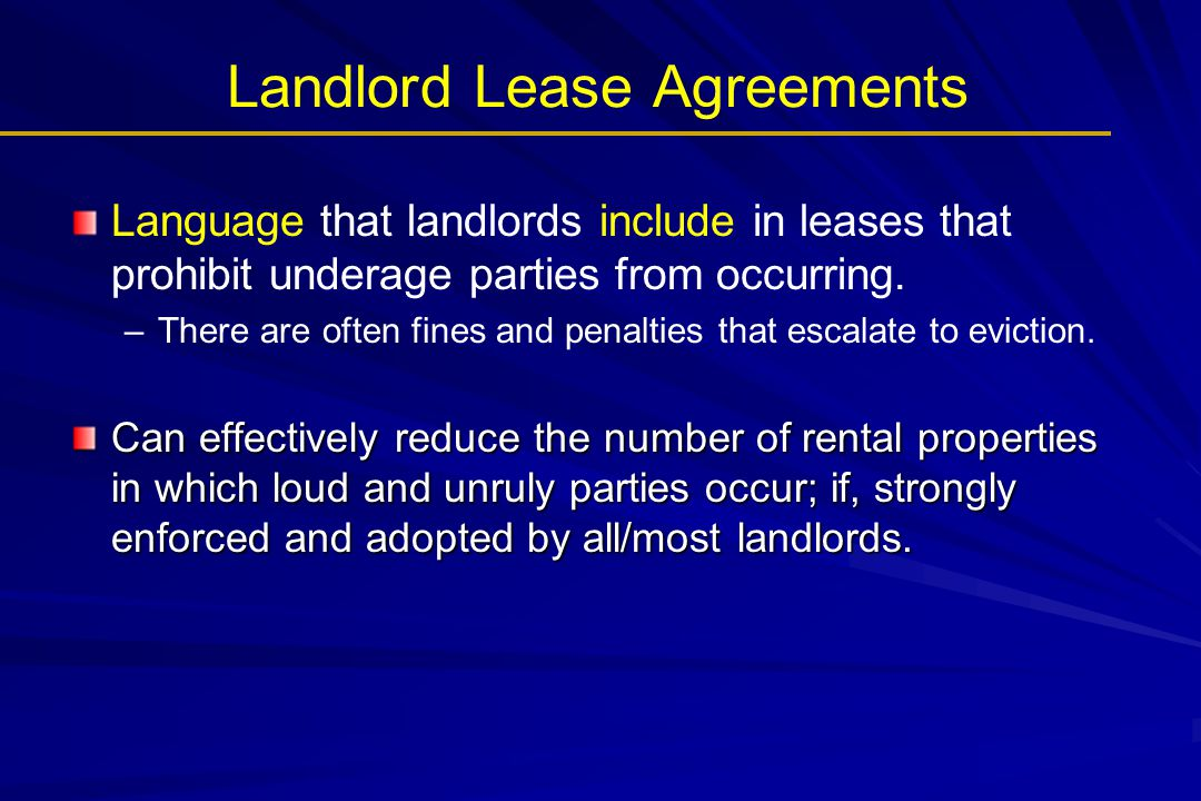 Landlord Lease Agreements