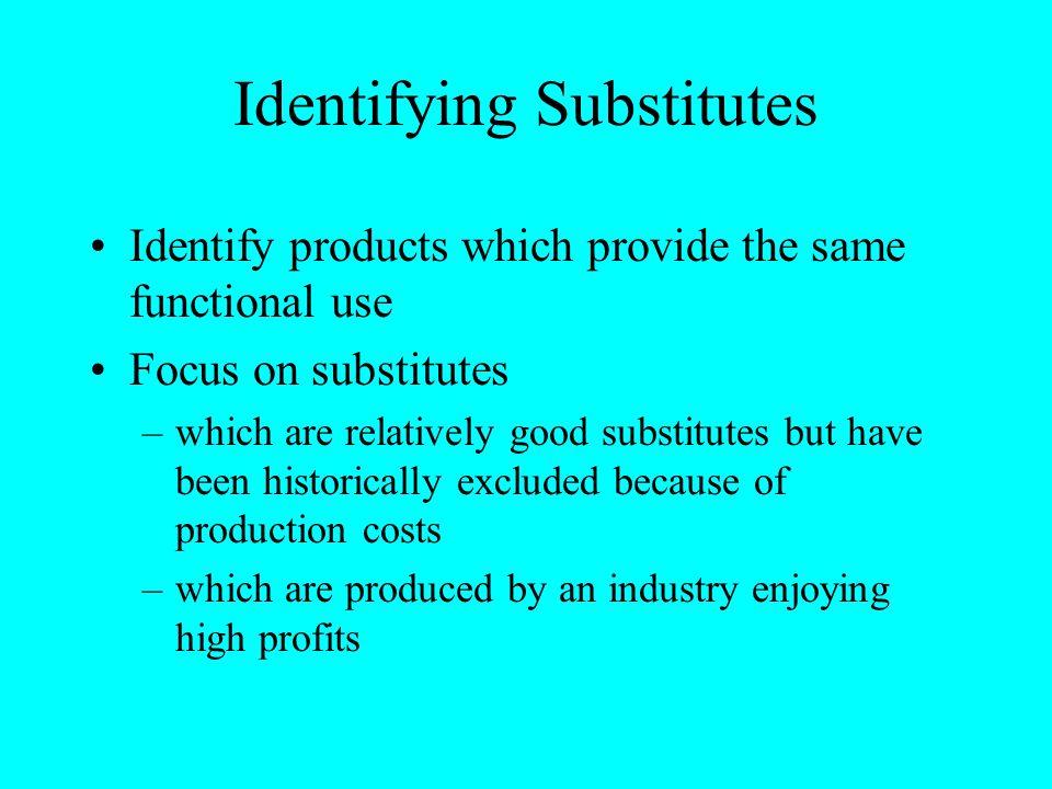 Identifying Substitutes