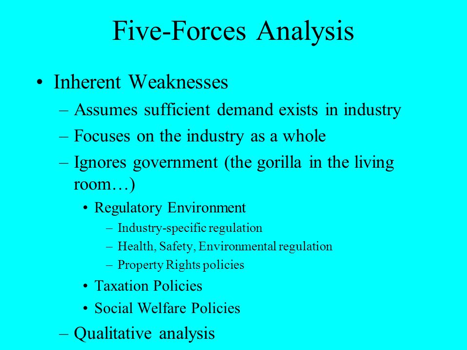 Five-Forces Analysis Inherent Weaknesses