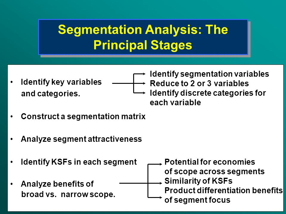 Segmentation Analysis: The Principal Stages