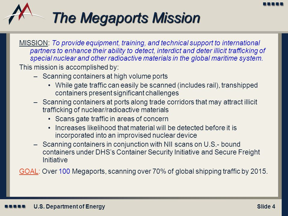 Module X: Title Here The Megaports Mission.