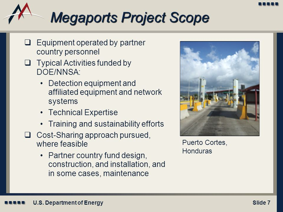 Megaports Project Scope