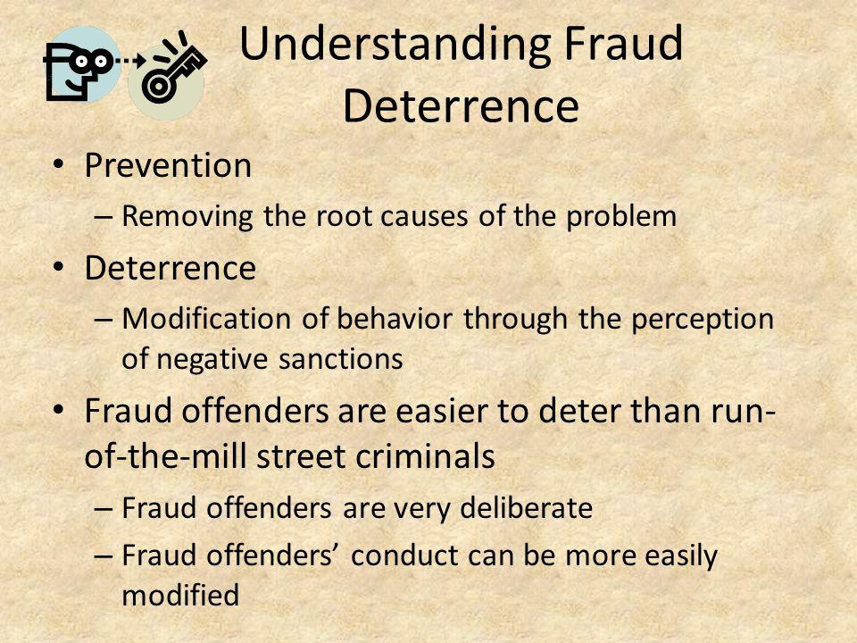 Understanding Fraud Deterrence