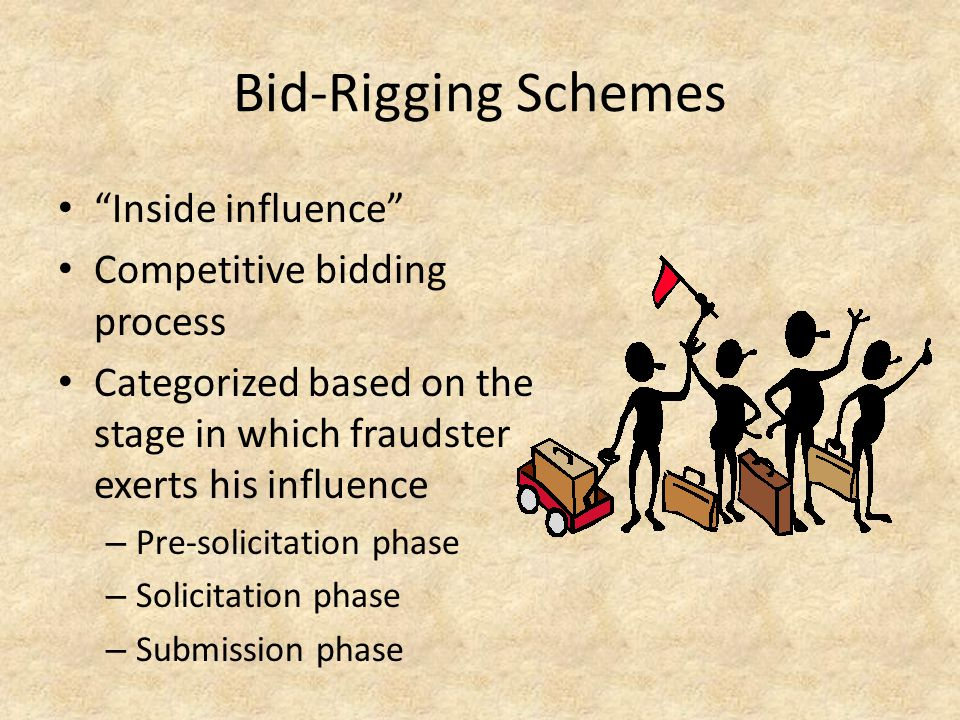 Bid-Rigging Schemes Inside influence Competitive bidding process