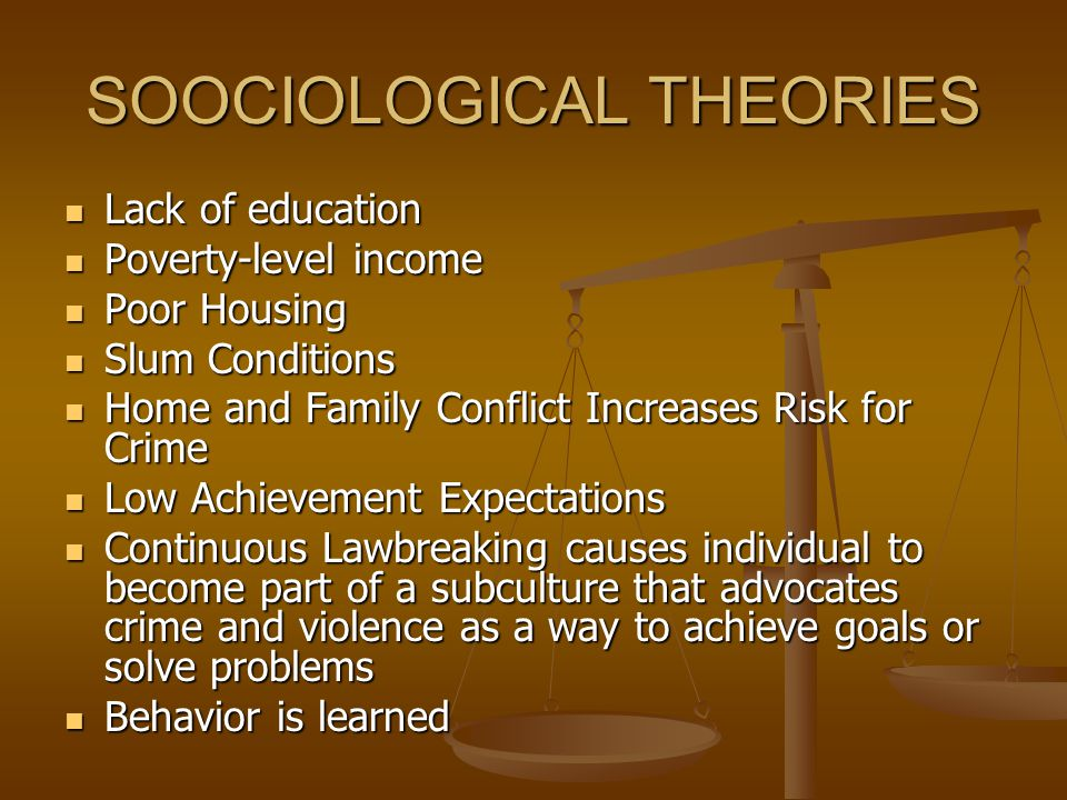 SOOCIOLOGICAL THEORIES
