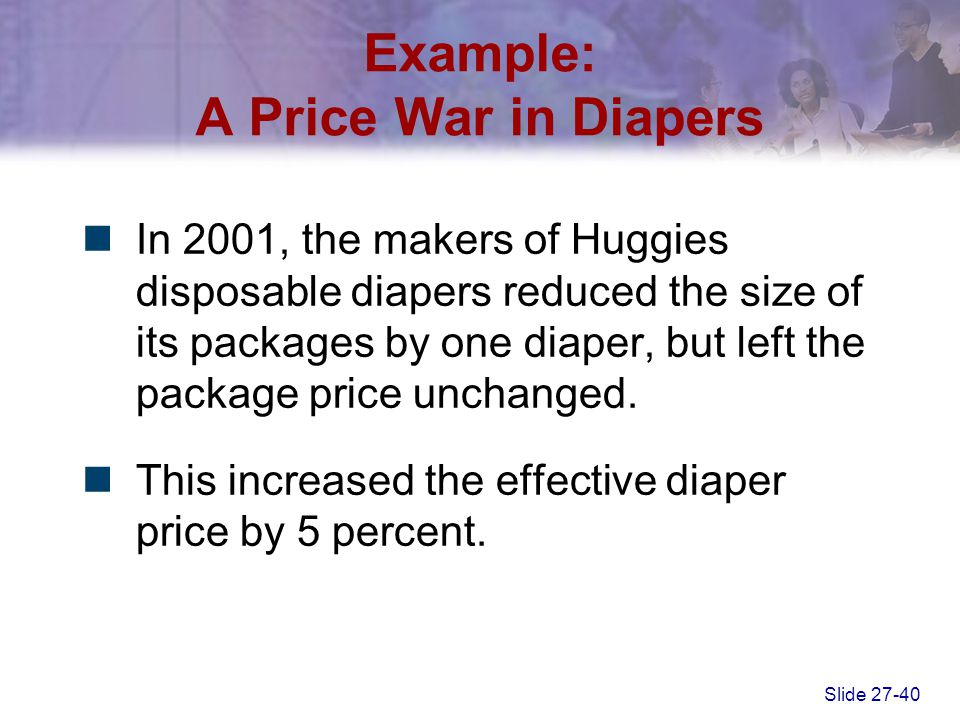 Example: A Price War in Diapers