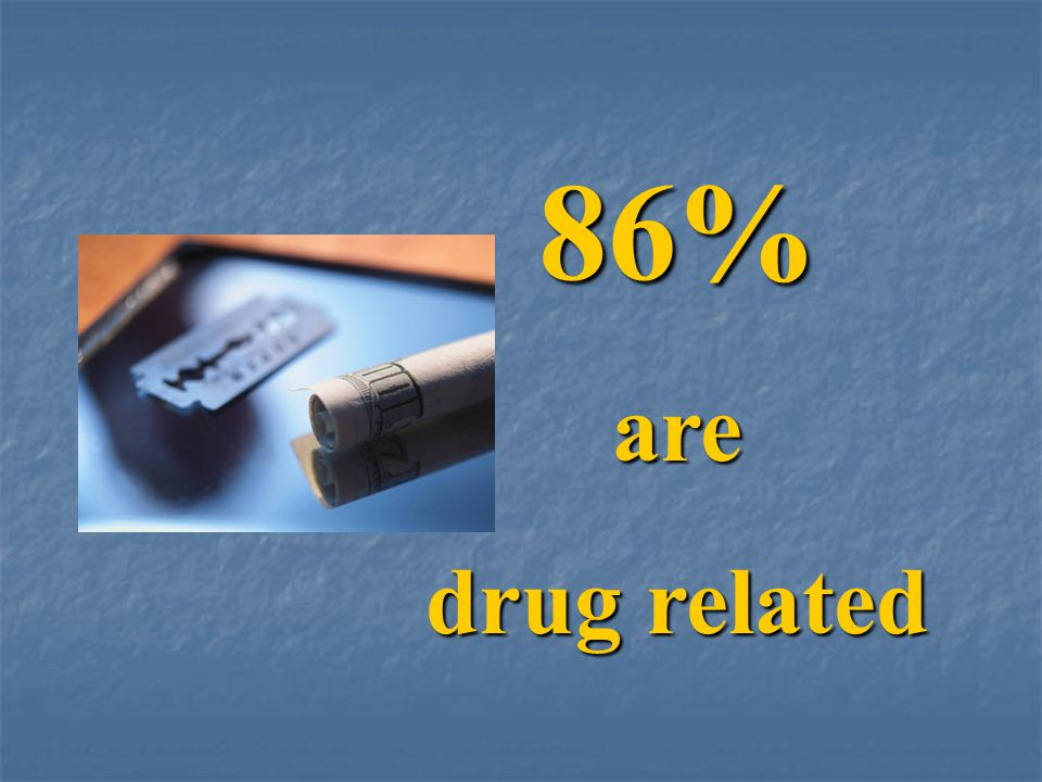 86% are drug related