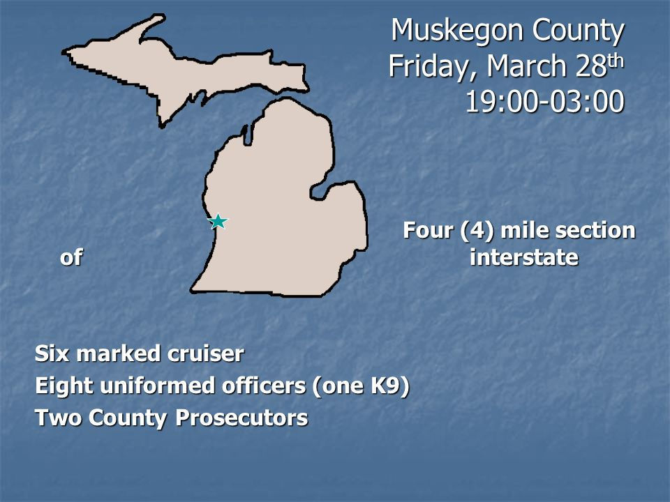 Muskegon County Friday, March 28th 19:00-03:00