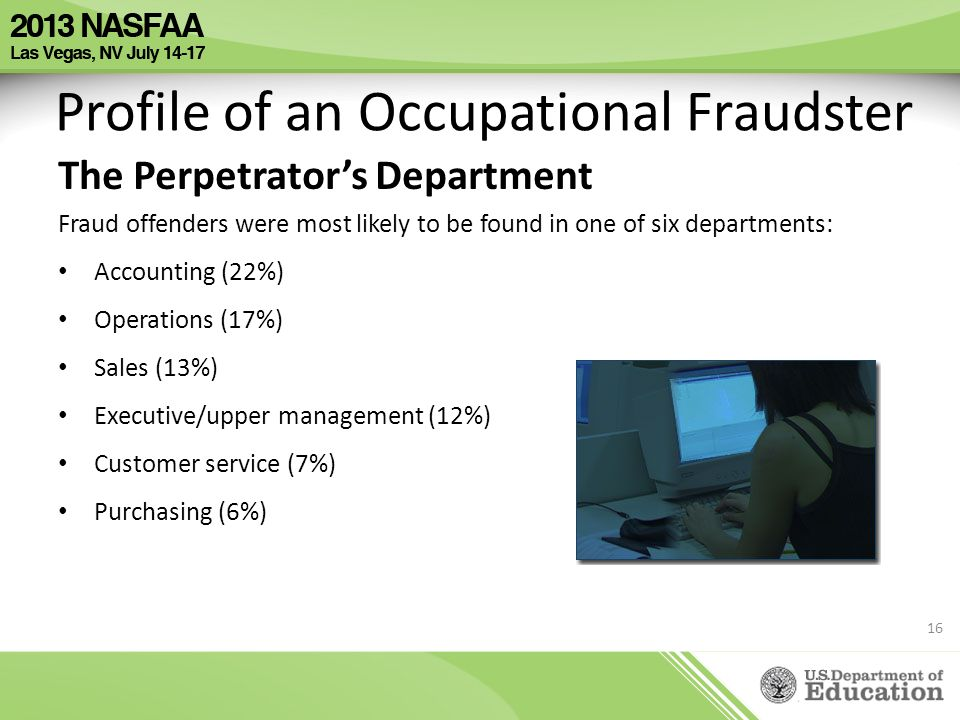 Profile of an Occupational Fraudster