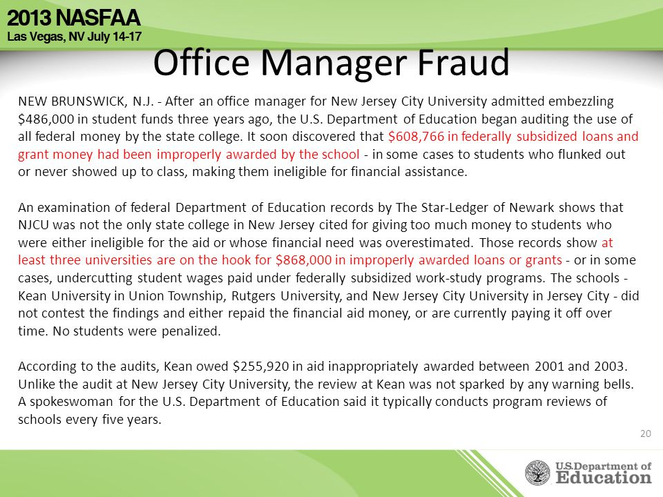 Office Manager Fraud