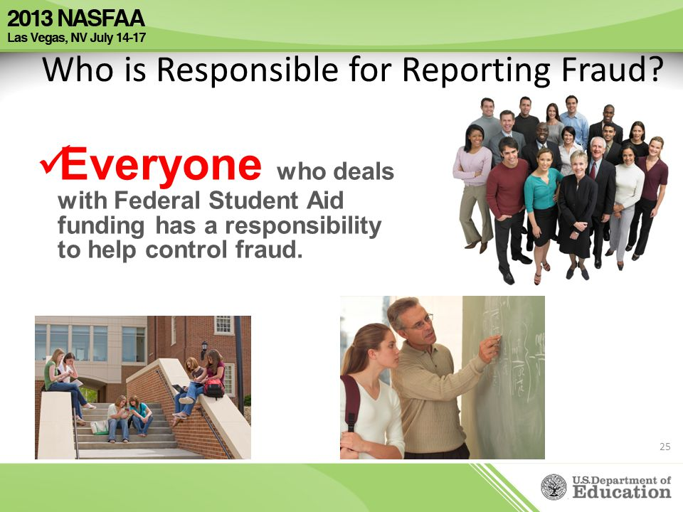 Who is Responsible for Reporting Fraud