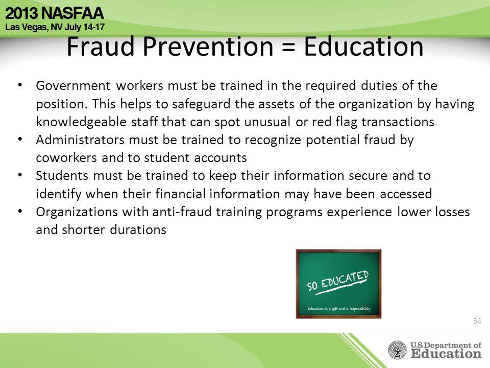 Fraud Prevention = Education